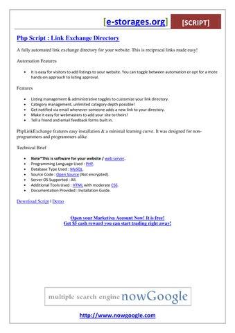 Php Script Link Exchange Directory by Maya Desva - issuu