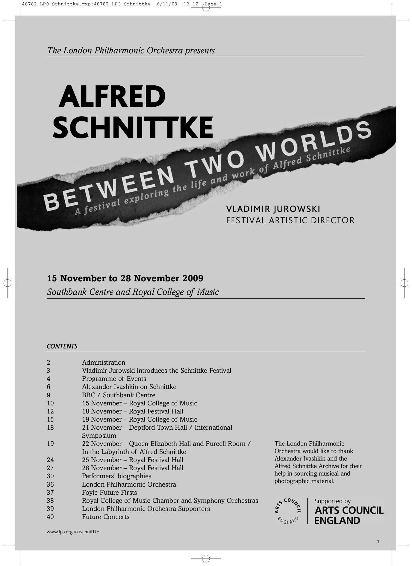 Schnittke programme lpo by london philharmonic orchestra issuu buycottarizona