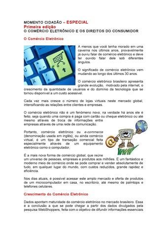 1b414b369e19d9 E-COMMERCE E O CONSUMIDOR BRASILEIRO by Valéria Reani - issuu