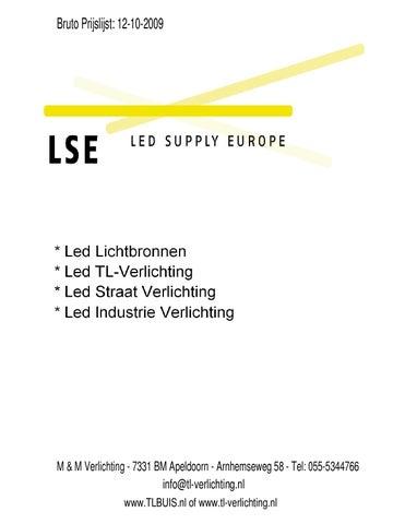 LSE Bruto prijslijst by M&M Verlichting - issuu