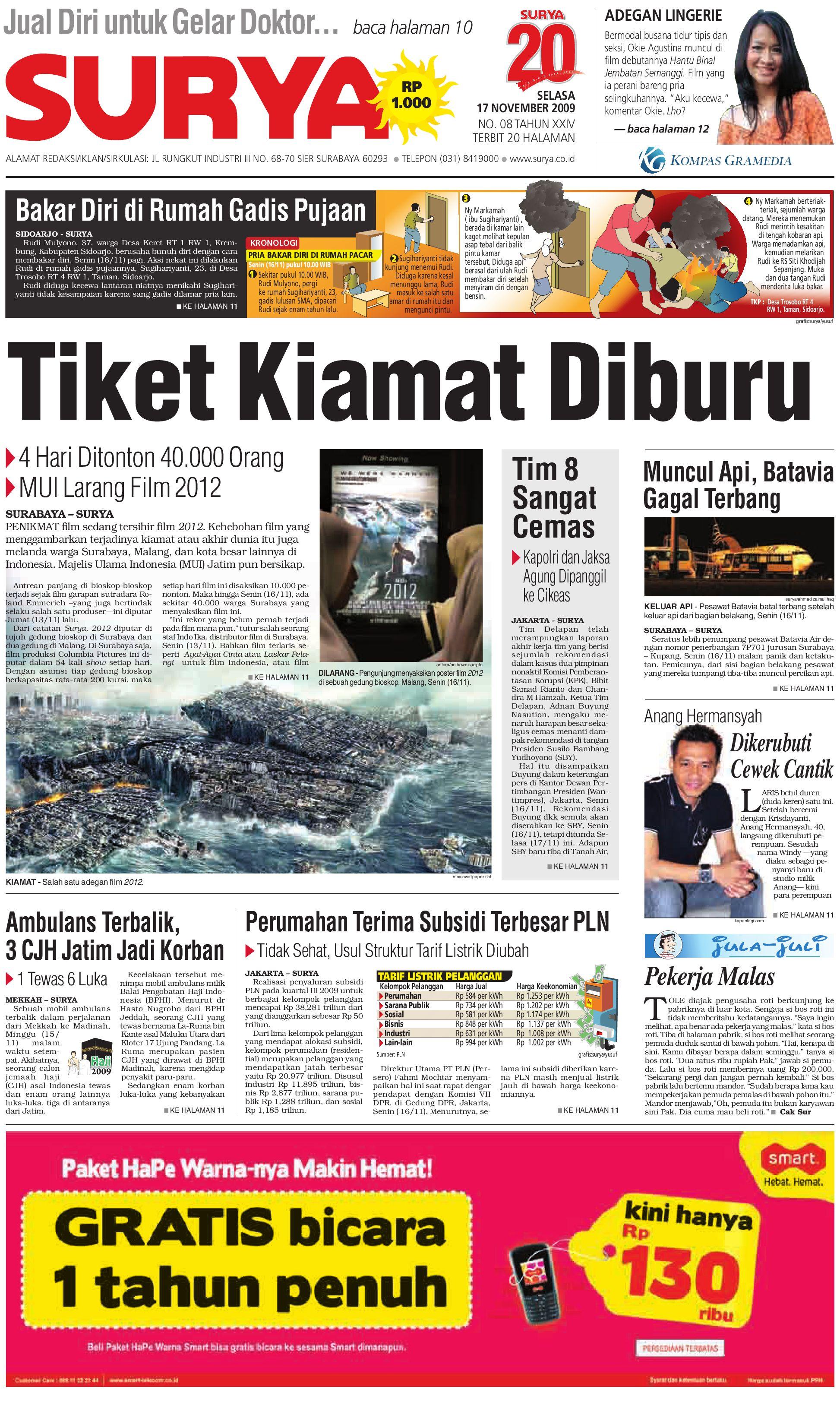 Surya Edisi Cetak 17 Nov 2009 Produk Ukm Bumn Batik Lengan Panjang Parang Toko Ngremboko