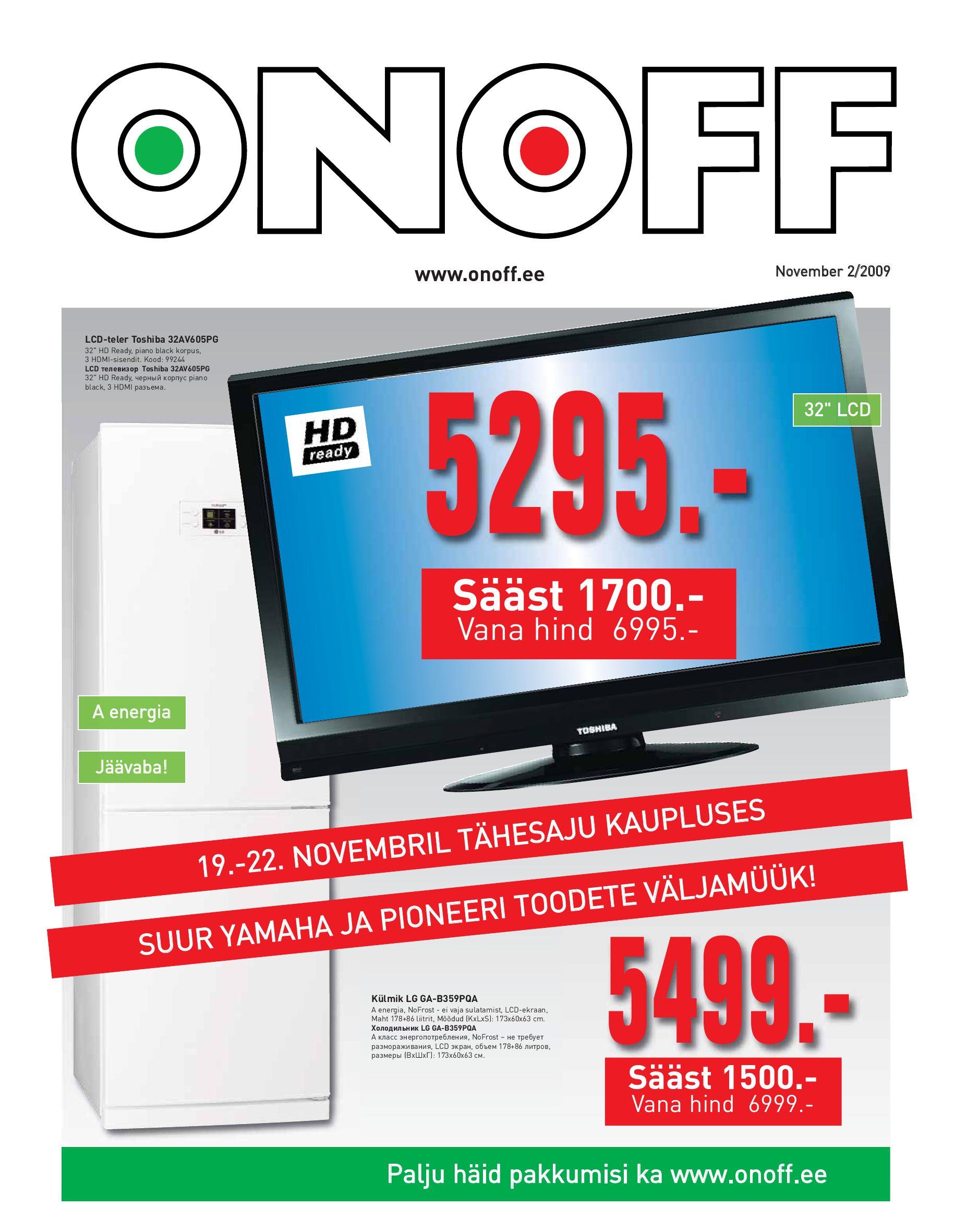 Kliendileht: November 2/2009 by ONOFF Eesti AS - issuu