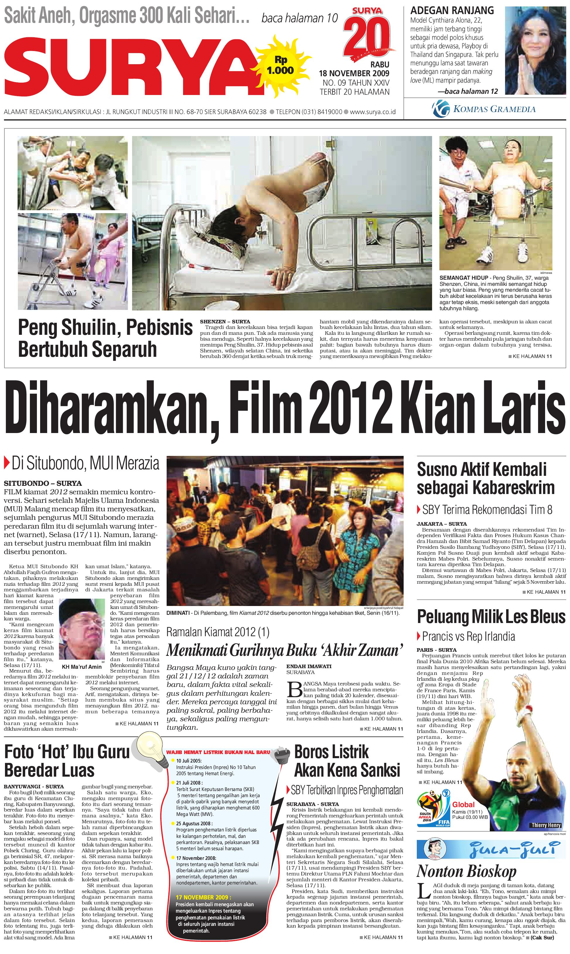 Surya Edisi Cetak 18 Nov 2009 by Harian SURYA - issuu dfbcac83bb