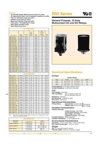 10 Amp 12 VDC Inc. NTE Electronics R14-11D10-12 Series R14 General Purpose DC Relay DPDT Contact Arrangement