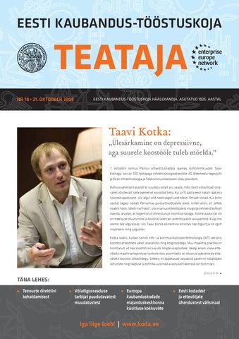39e27d072be Teataja 18_2009 by Eesti Kaubandus-Tööstuskoda / Estonian Chamber of ...