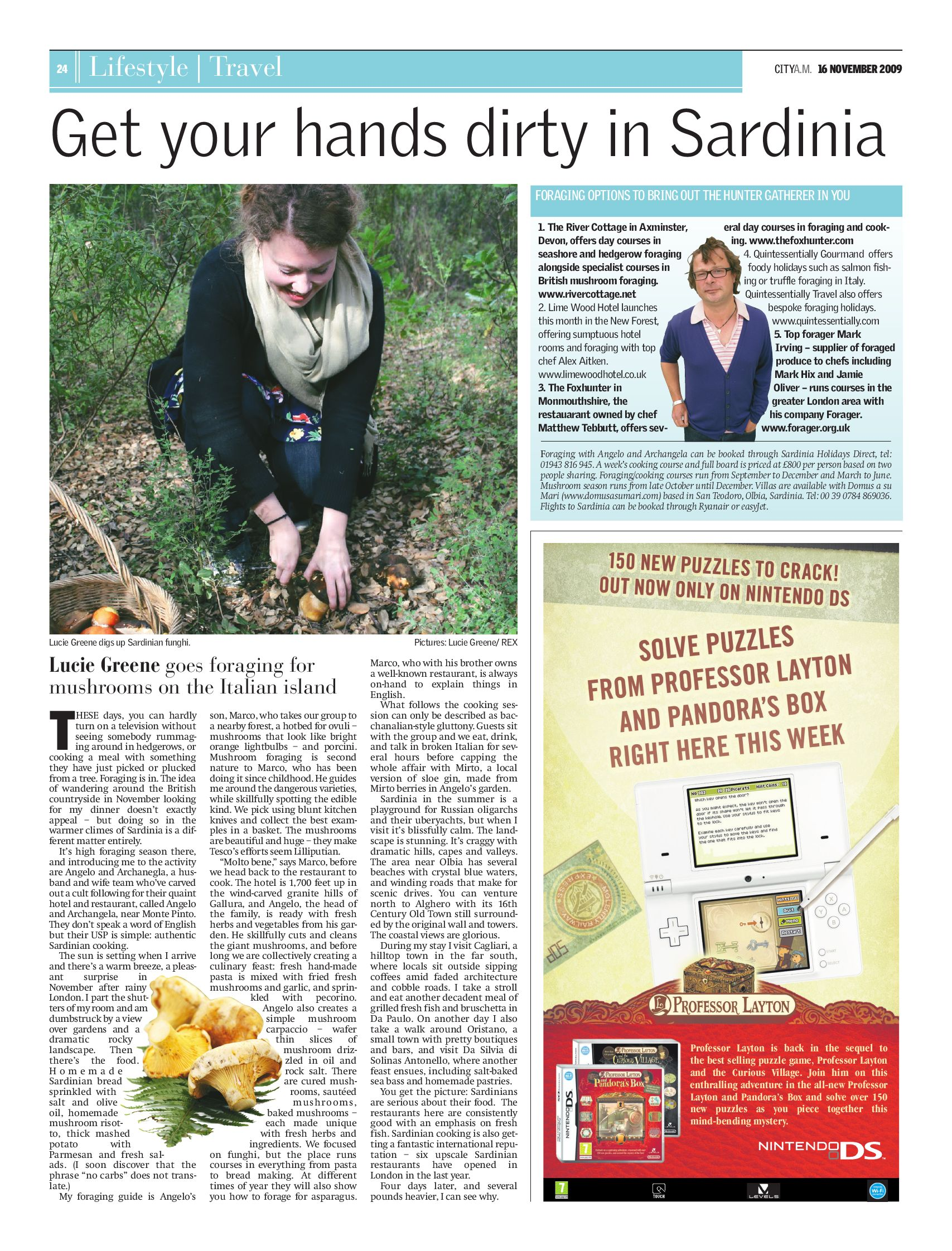 Get Your Hands Dirty In Sardinia City Am 16 11 09 By Lucie Greene Issuu