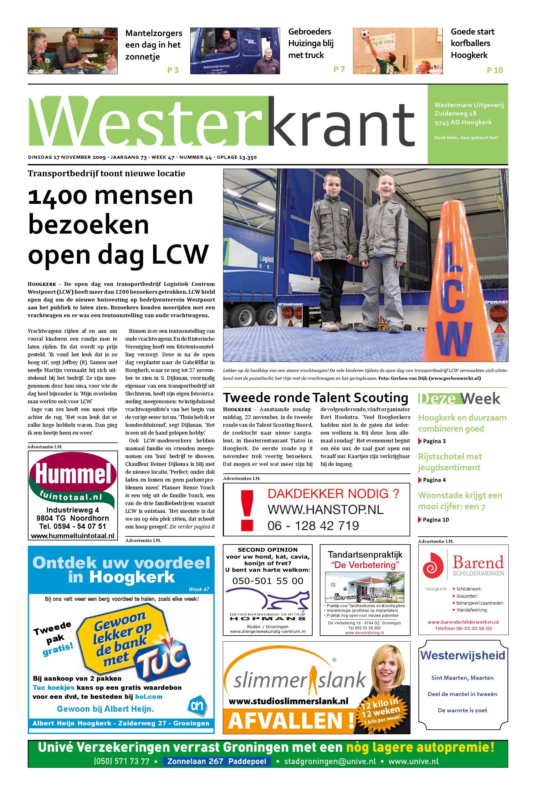 Westerkrant Week 47 2009 By Vwh Hoogkerk Issuu