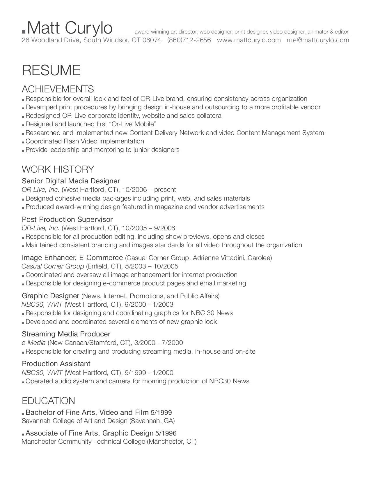 Matt Curylo Resume by matt Curylo - issuu