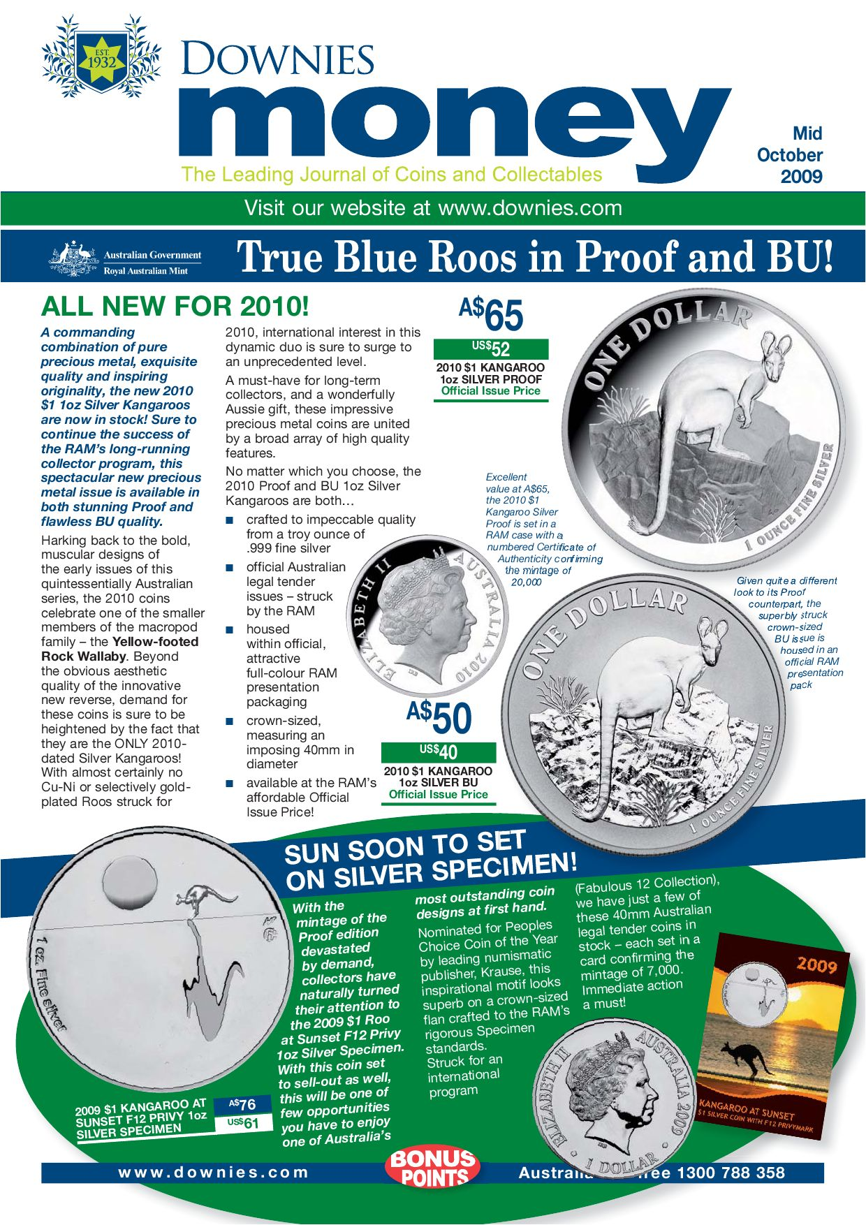 2010 Uncirculated UNC Coin Set Australia ideal for Birthday Birth Year baby gift