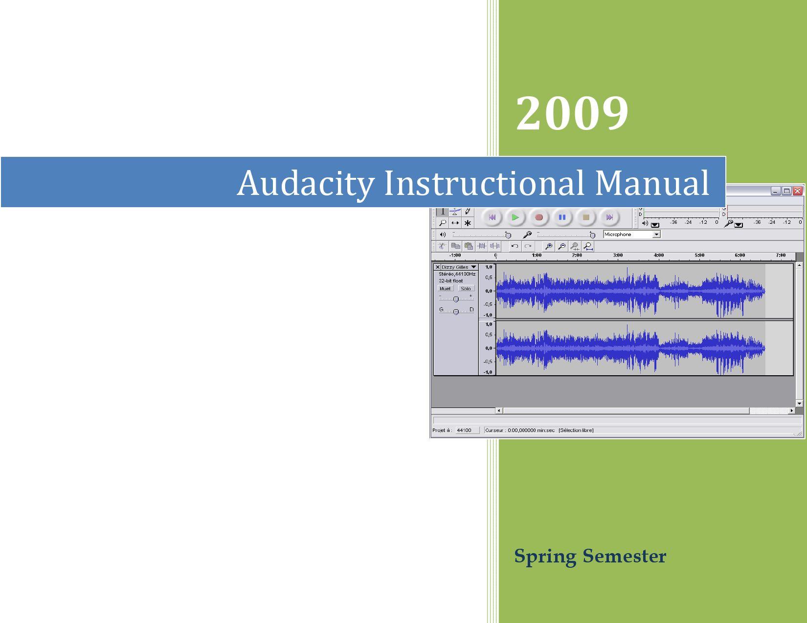 Adudacity audio application manual by Art to Life