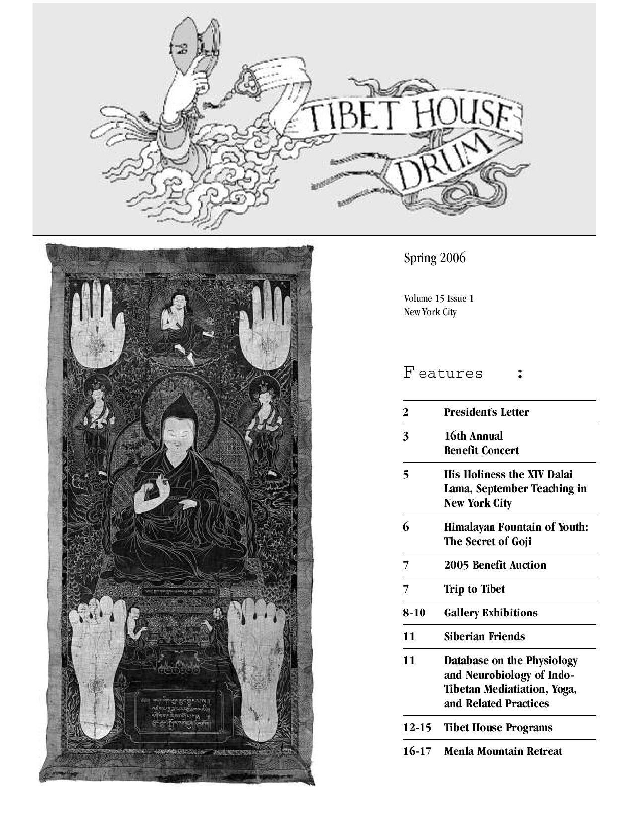 Spring 2006 Tibet House Drum by Tibet House US - issuu