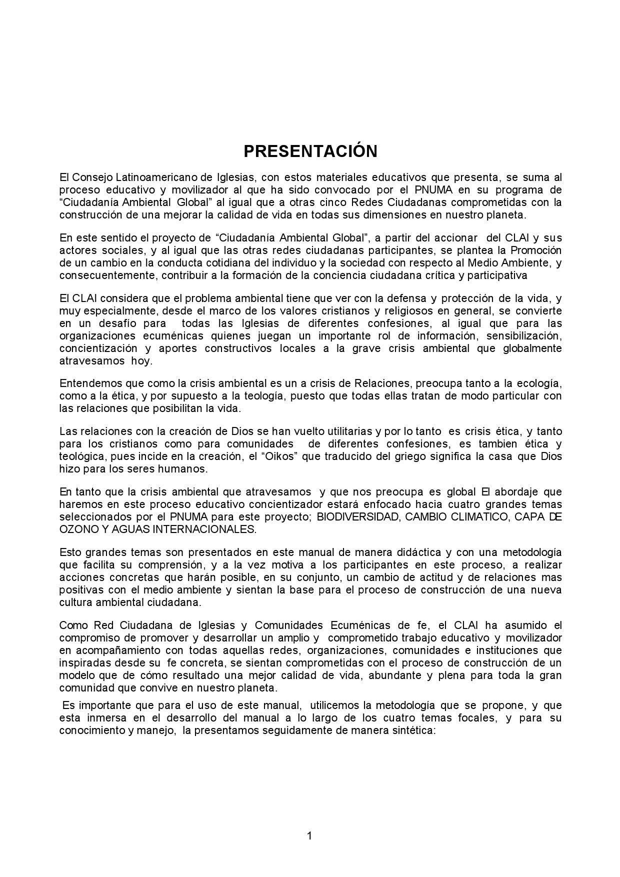 Manual de Medio Ambiente by CONSEJO LATINOAMERICANO DE IGLESIAS - issuu