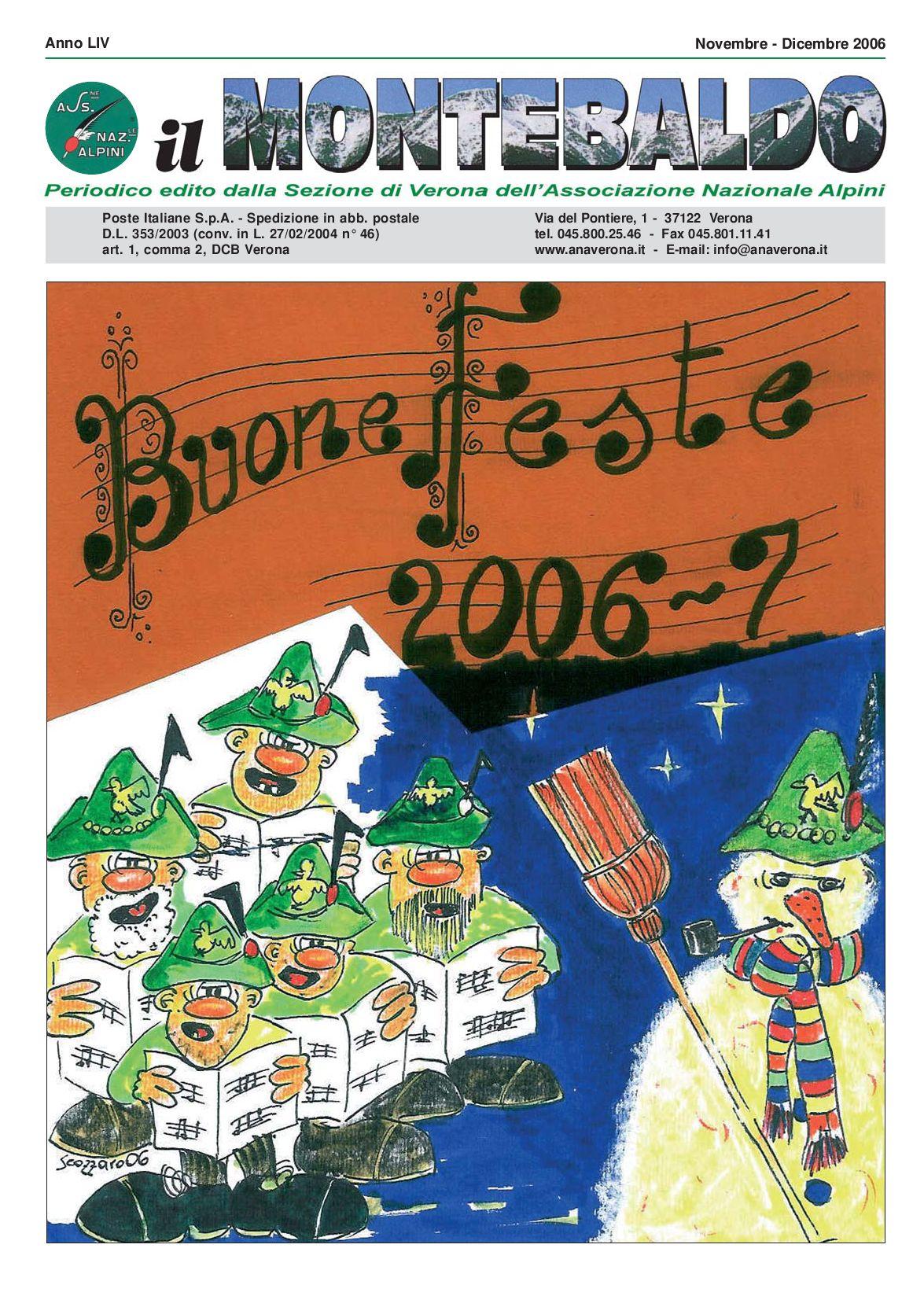 Calendario Prossime Adunate Alpini.Novembre Dicembre 2006 By A N A Verona Issuu