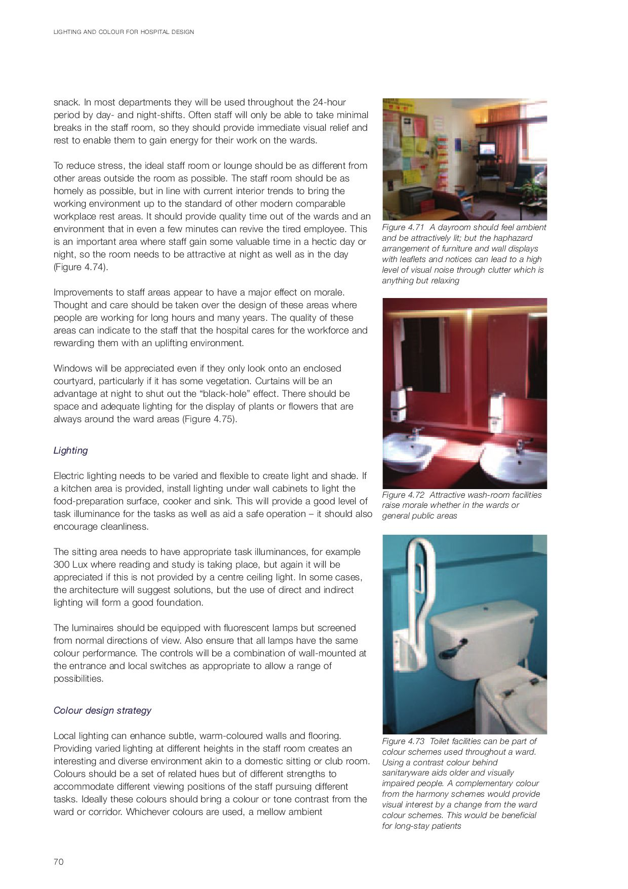 Nhs Lighting And Colour For Hospital Lighting Design By