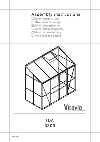 4 8 Lean Vitavia Ida 3300 Assembly Instructions By The Greenhouse