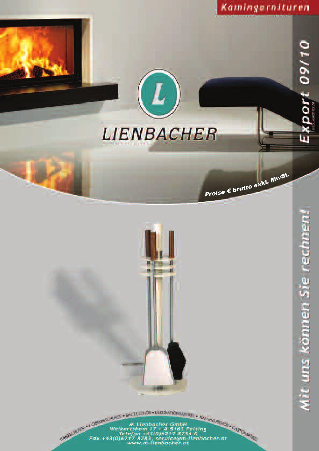 Kaminbesteck Kamingarnitur Lienbacher Edelstahl 4teilig H64cm