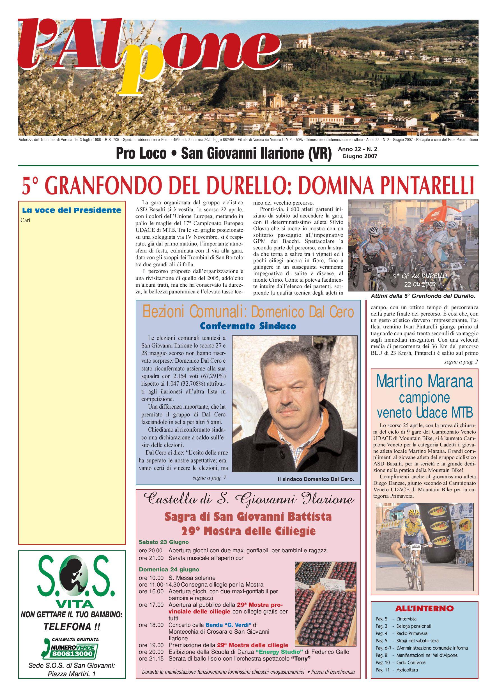 San Numero 2 Di Loco 2007 Issuu Pro Giovanni Ilarione By dexWCoBr