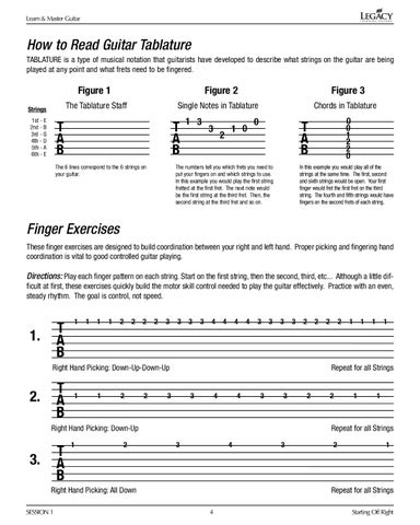 Guitar Lesson Book For