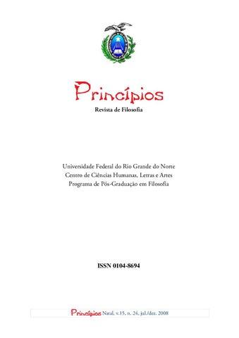 Princpios volume 25 nmero 24 2008 by princpios revista de page 1 fandeluxe Gallery
