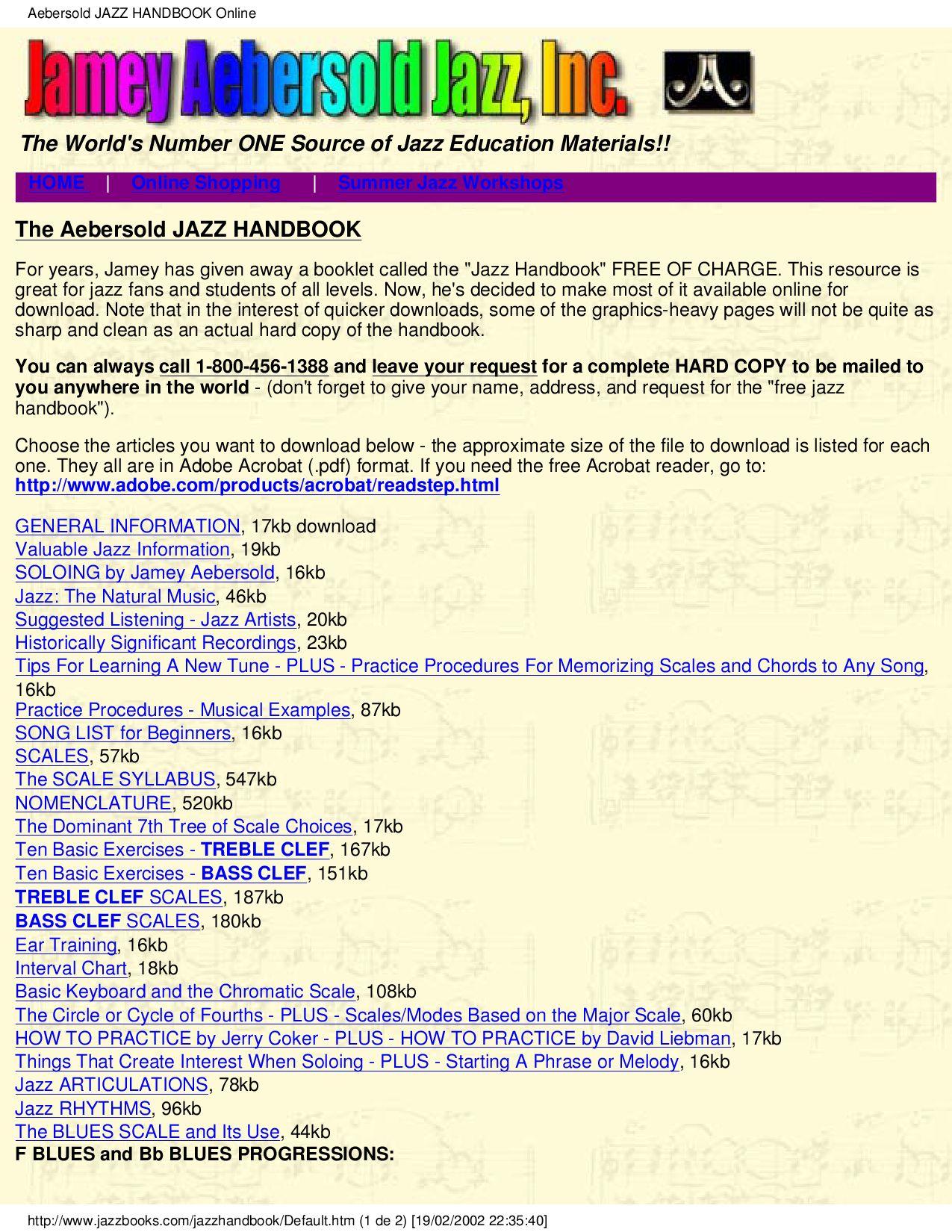 THE JAZZ HANDBOOK by Biblioteca Musical - issuu