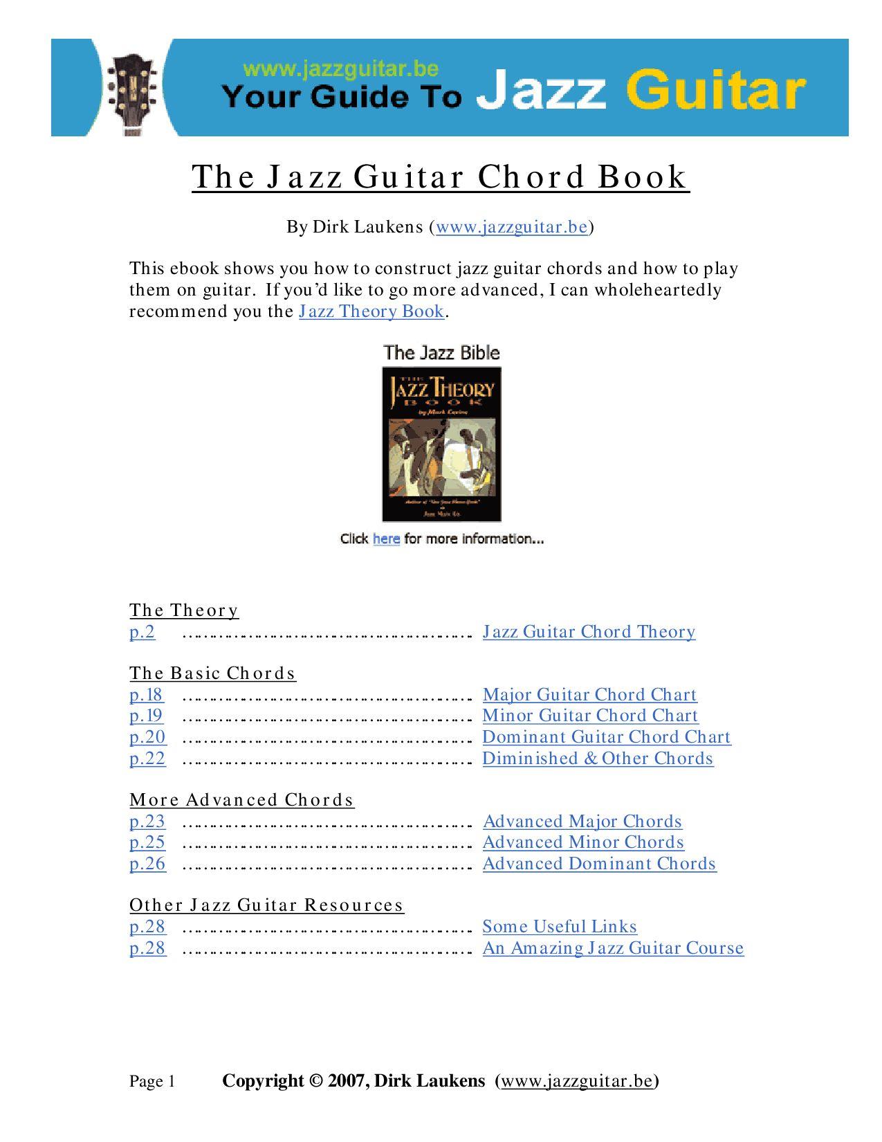 The Jazz Guitar Chords Ebook By Biblioteca Musical Issuu