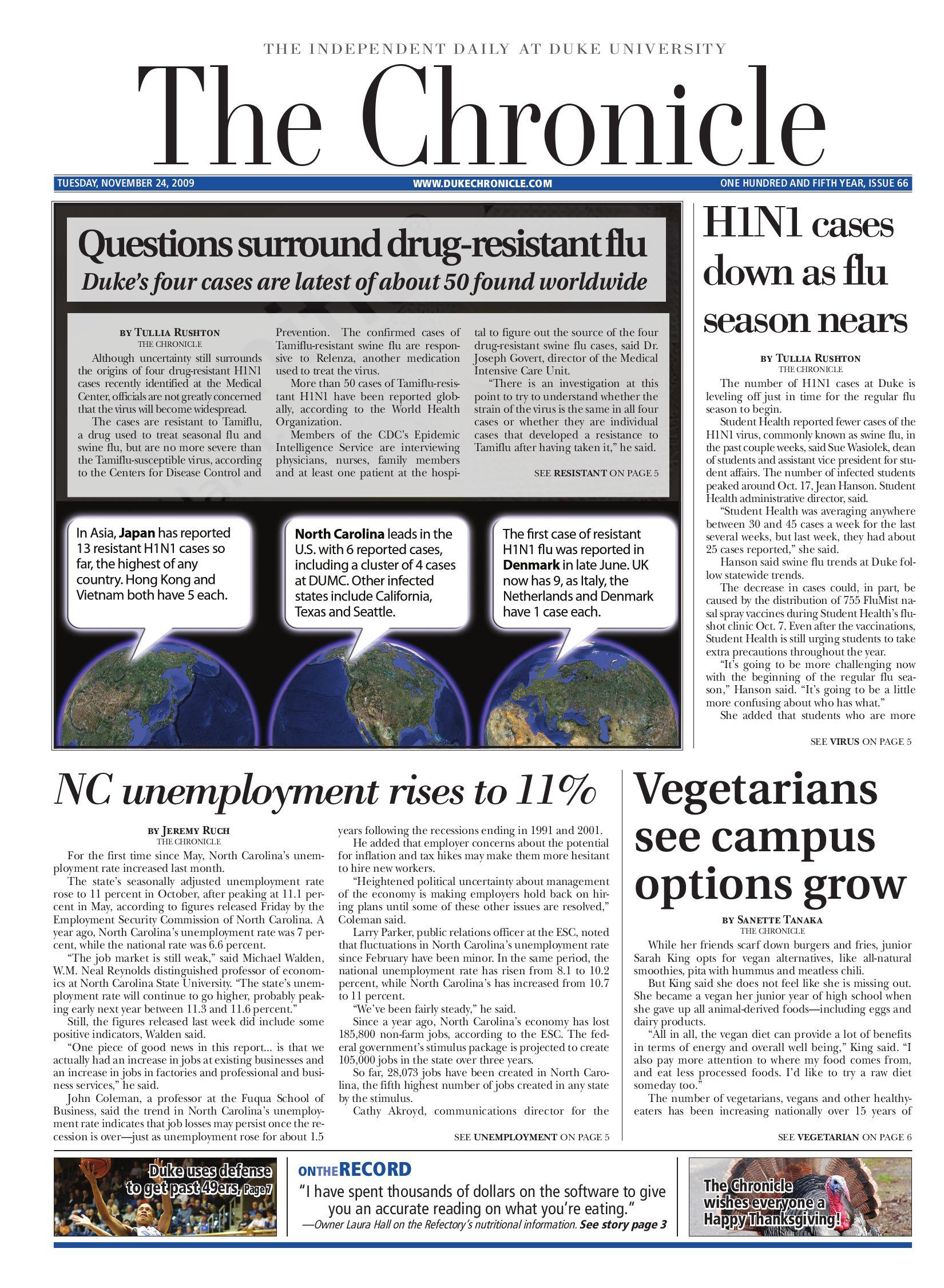 november 24 2009 issue by duke chronicle issuu rh issuu com
