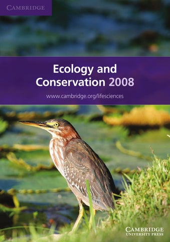 2009 ecology and conservation catalogue by cambridge university page 1 fandeluxe Choice Image