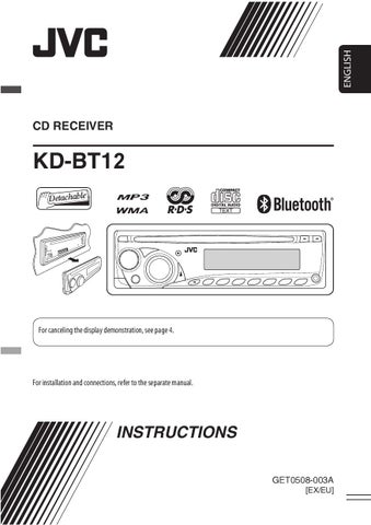 jvc kd bt12 owner s manual by car audio issuu rh issuu com JVC 200 Disc CD Changer CD Changer JVC X200 CH