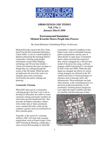 Institute for Urban Design - Environmental Simulation by