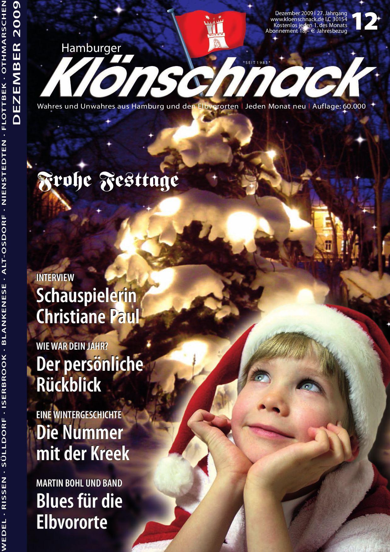 Hamburger Klönschnack - Dezember \'09 by Hamburger Klönschnack - issuu