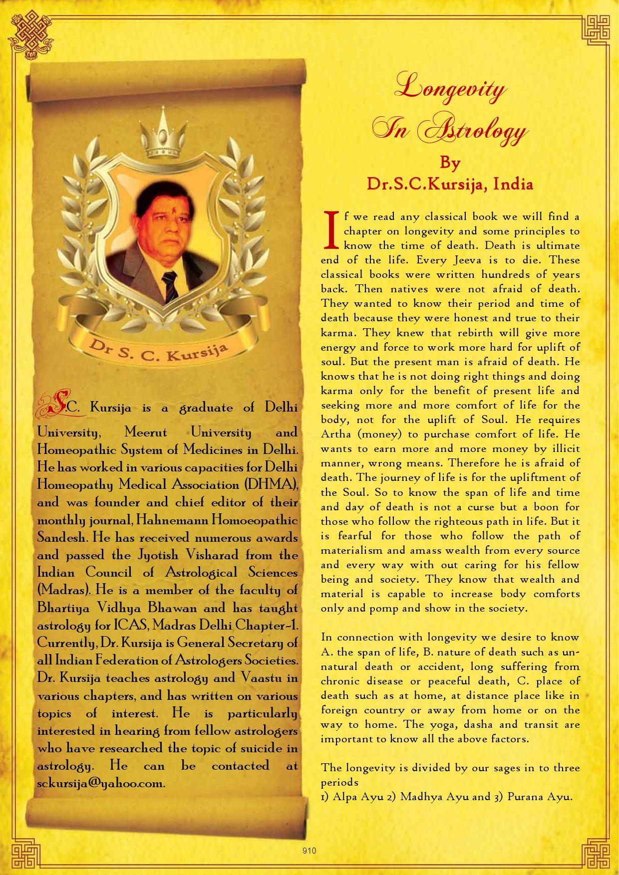 84-LongevityInAstrology by Saptarishis Astrology - issuu