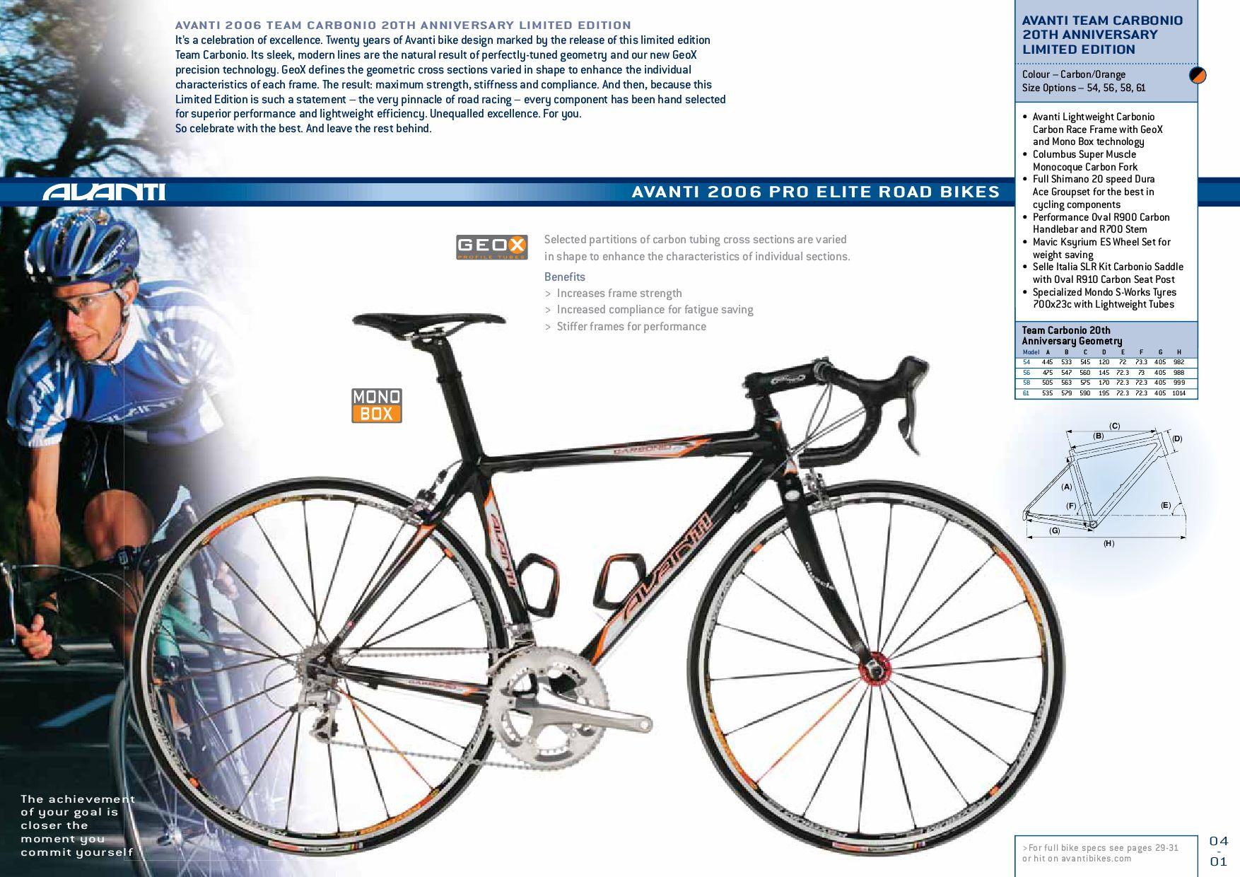 2006 Avanti Bike Catalogue by AvantiPlus Cycles - issuu