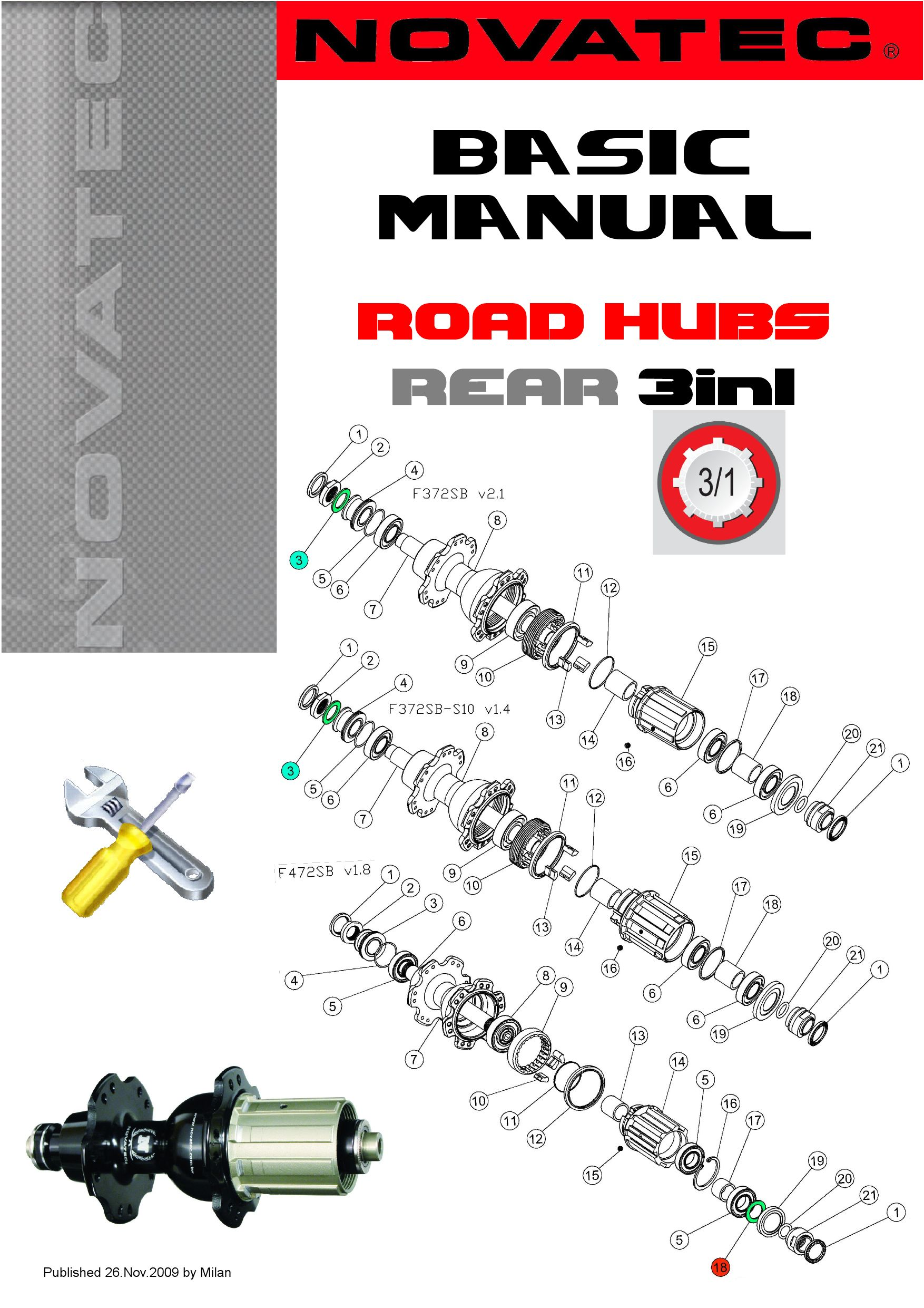 novatec basic manual road rear 3in1 hubs by novatec issuu rh issuu com conmet hub service manual mares hub service manual