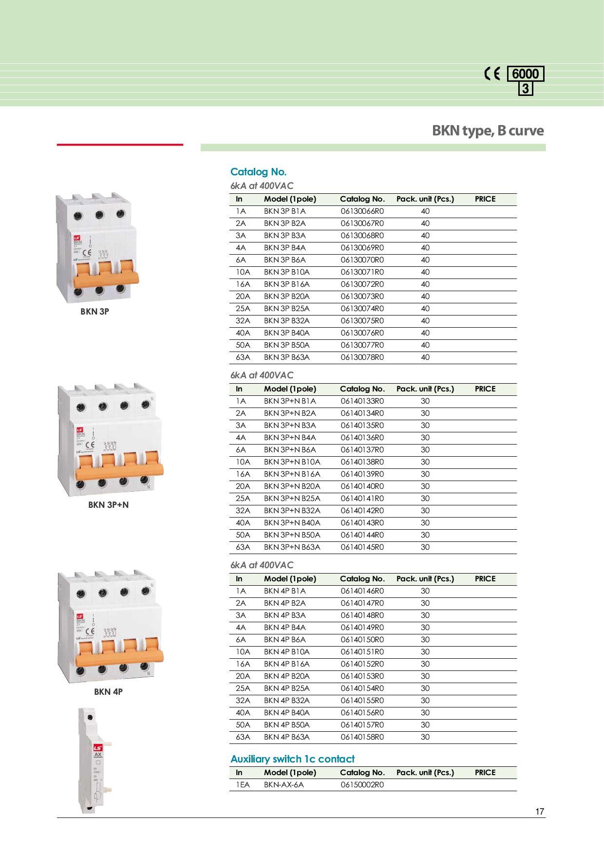Interruptores Termomagneticos y Diferenciales (Catalogo