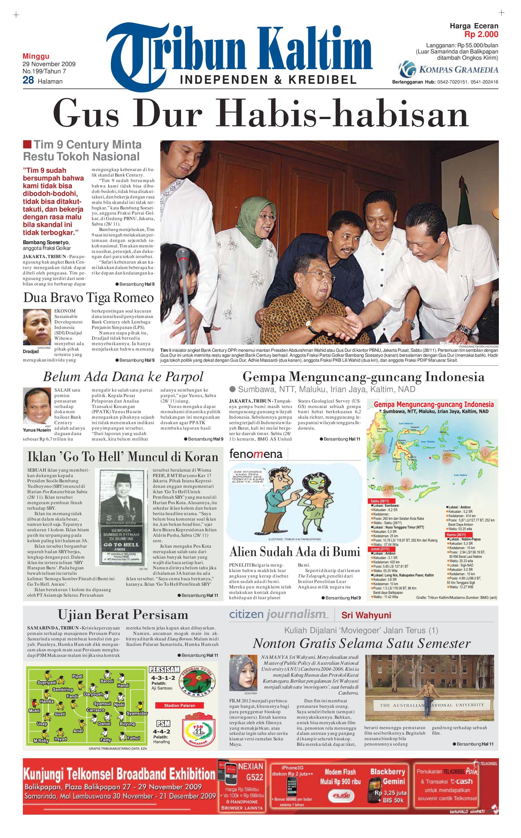 tribunkaltim 29 november 2009 by tohir tribun issuu