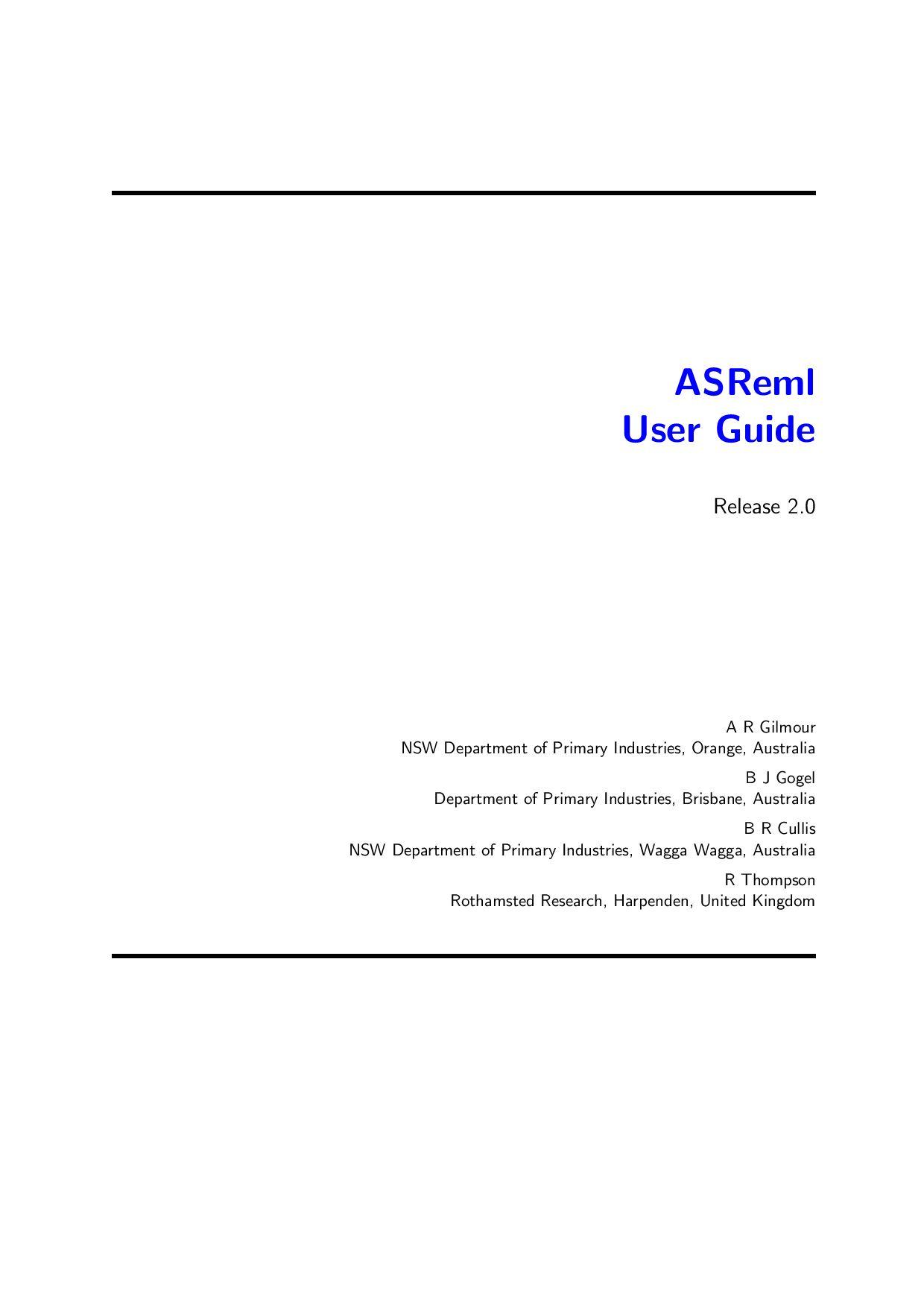 ASREML by A. Molina - issuu