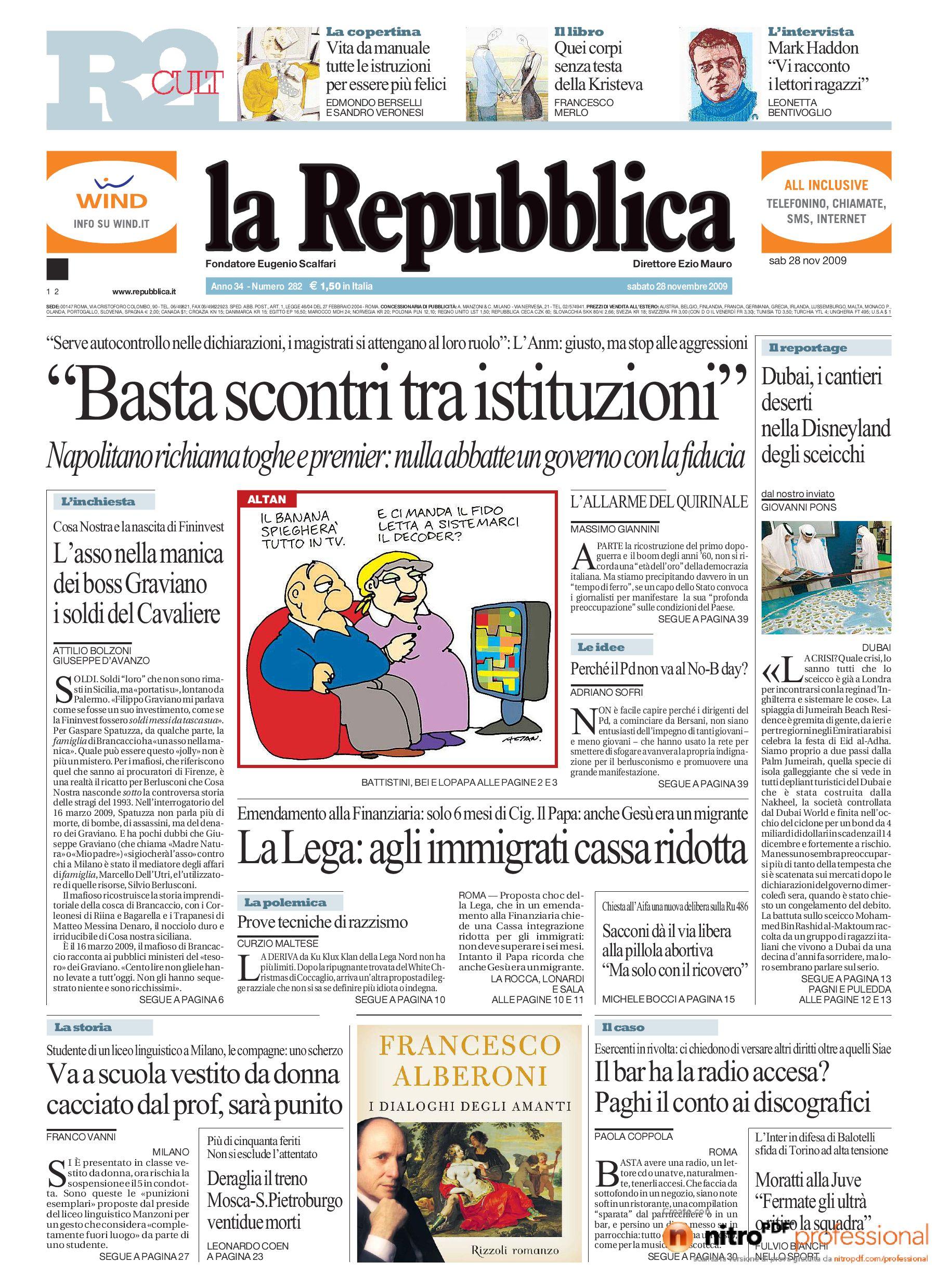 Repubblica - 28 novebre by Federico Pignalberi - issuu b80a5ea41a5