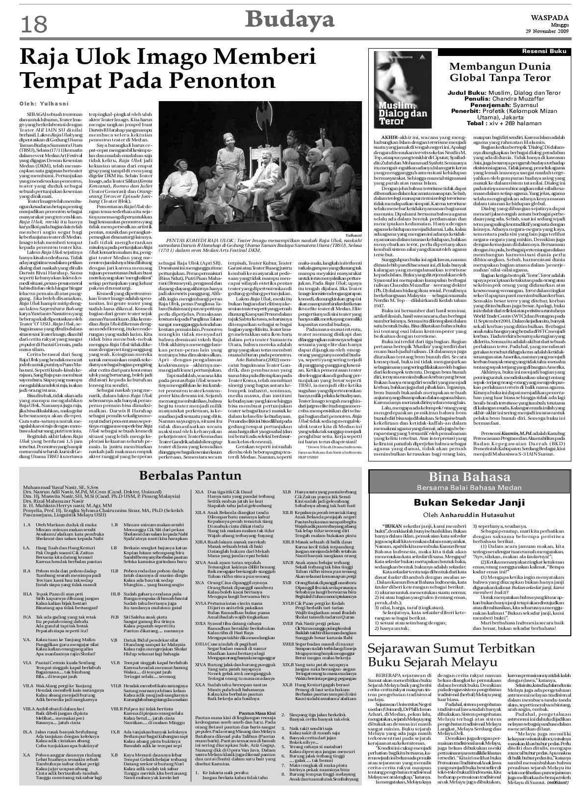 Waspada Minggu 29 November 2009 By Harian Waspada Issuu
