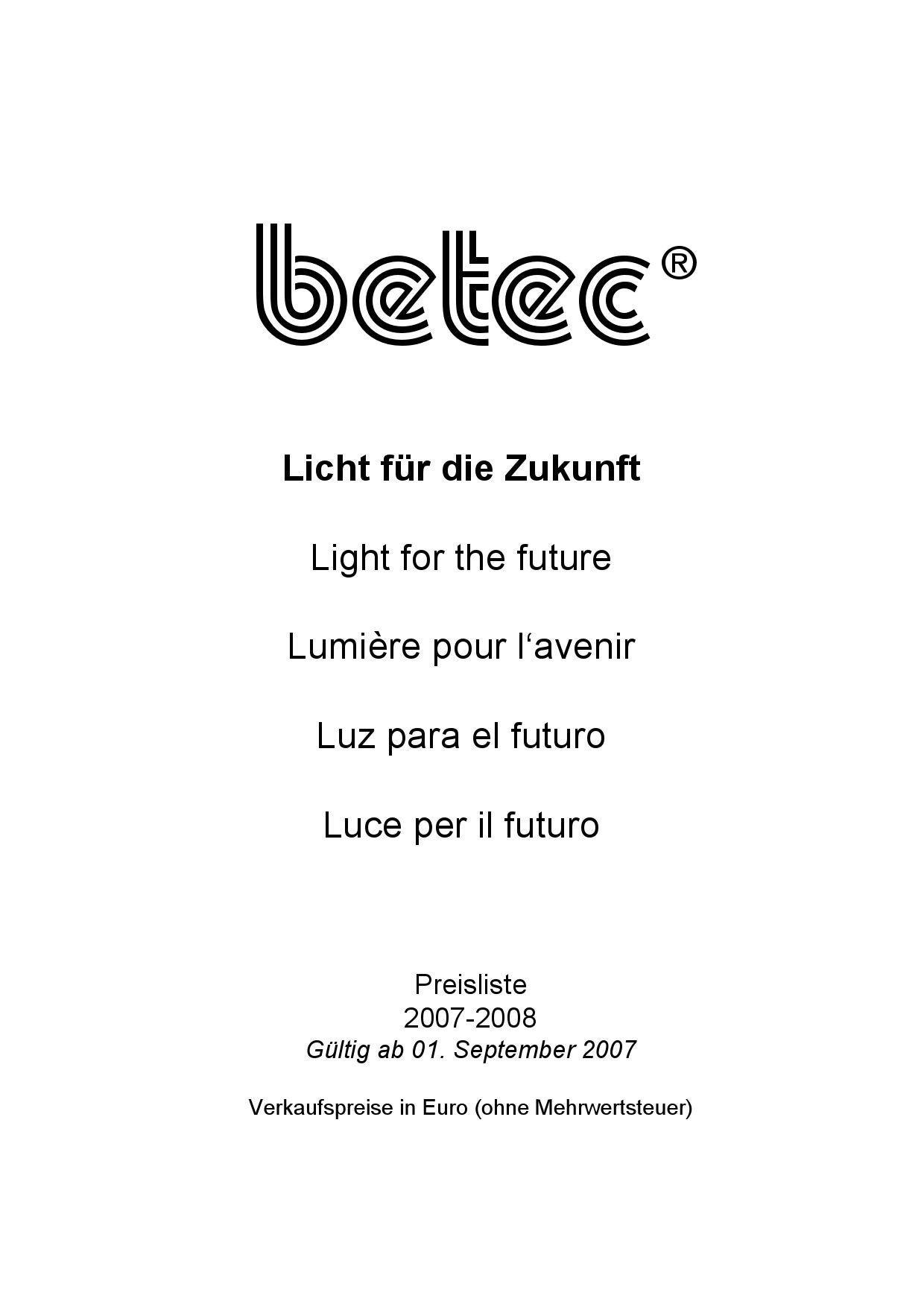 Preisliste_BETEC by Lamp Kft . - issuu