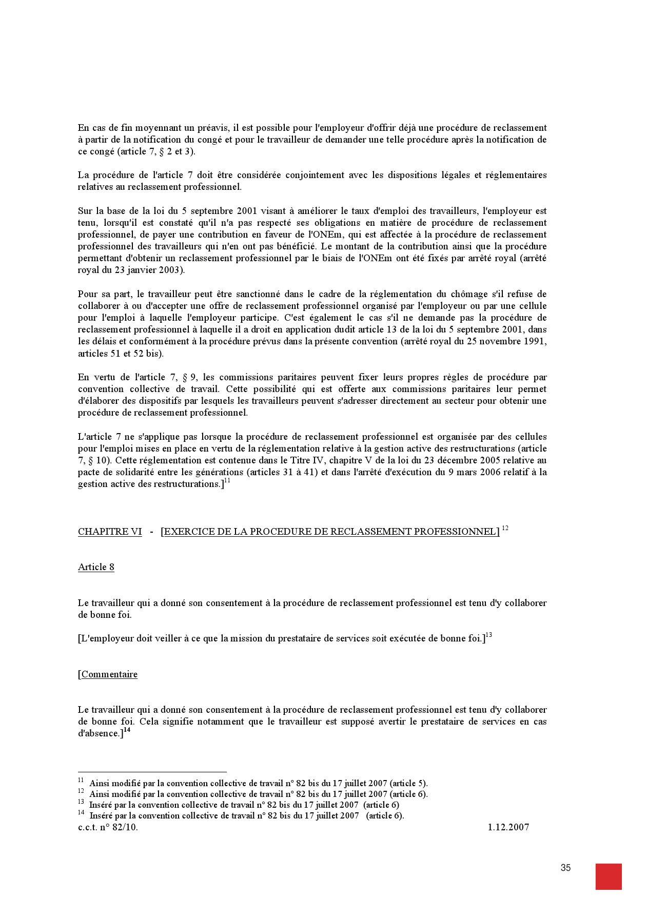 Outplacement Cct 82 Bis Et La Reglementation Depuis Le Pacte De