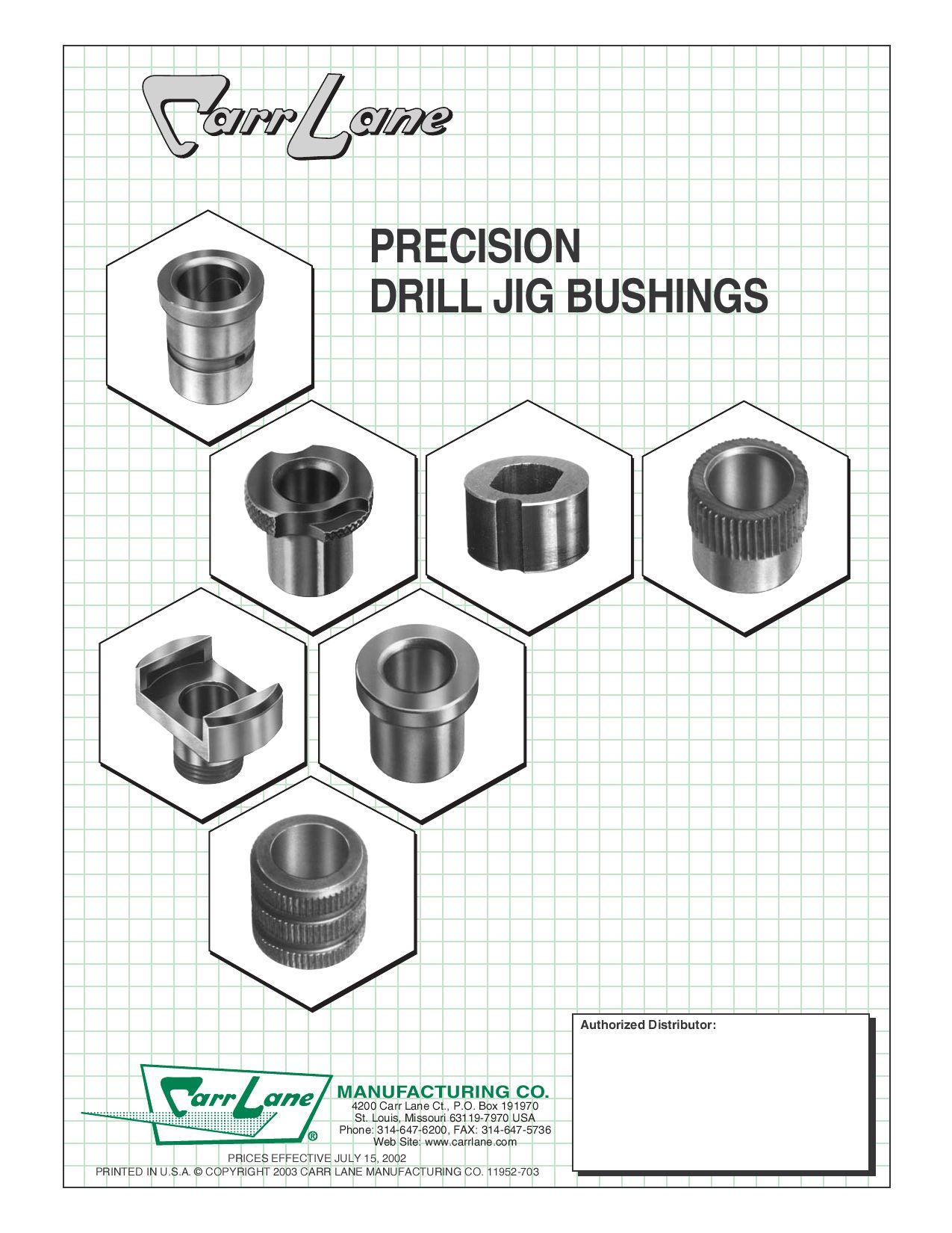 """All American Drill Bushing 7//64/"""" ID x 5//16/"""" OD x 3//8/"""" L SF Slip//Fixed Renewable"""