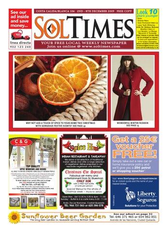Sol Times Newspaper Issue 106 Costa Blanca/Calida Edition