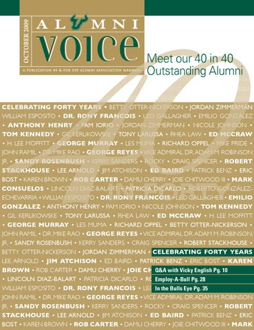 Alumnivoiceoct2009pdf by usf alumni association issuu page 1 fandeluxe Image collections