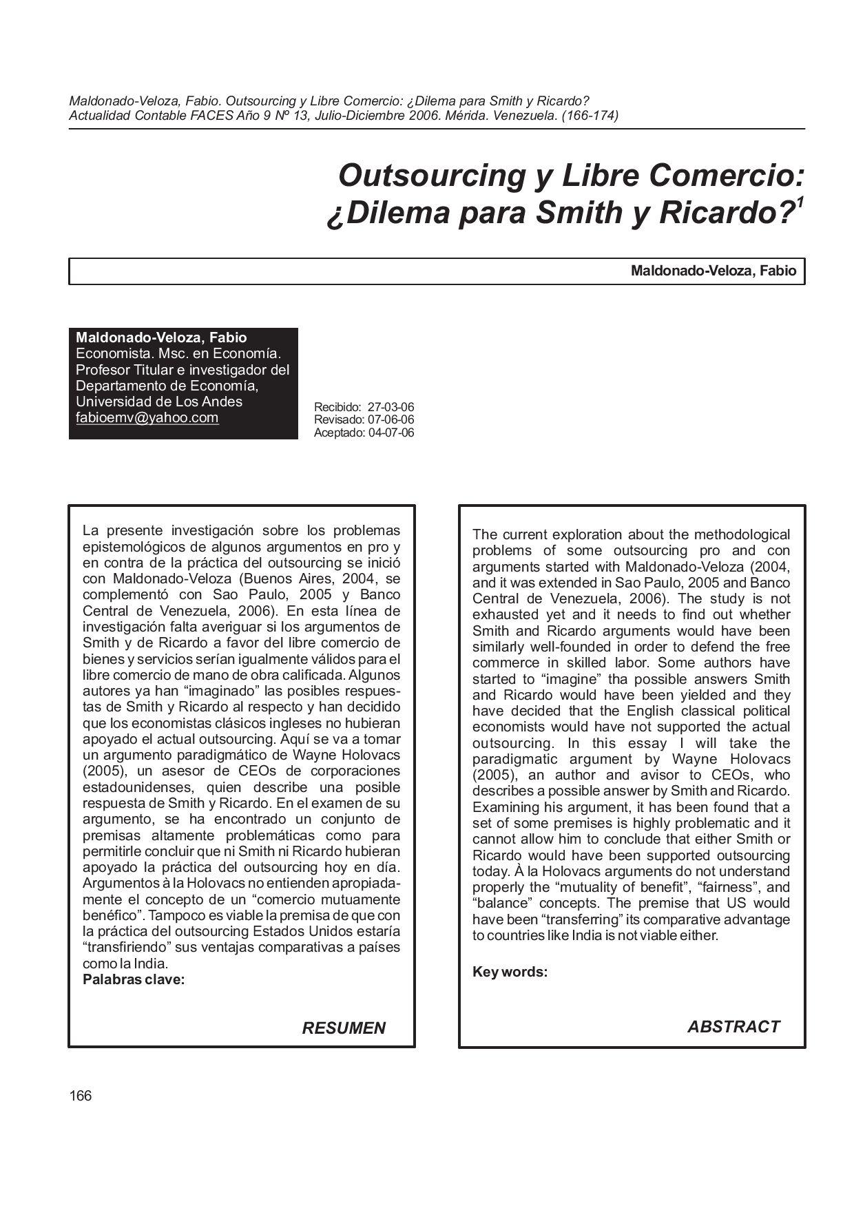 Outsourcing y Libre comercio articulo13 by Fabio Maldonado-Veloza ...