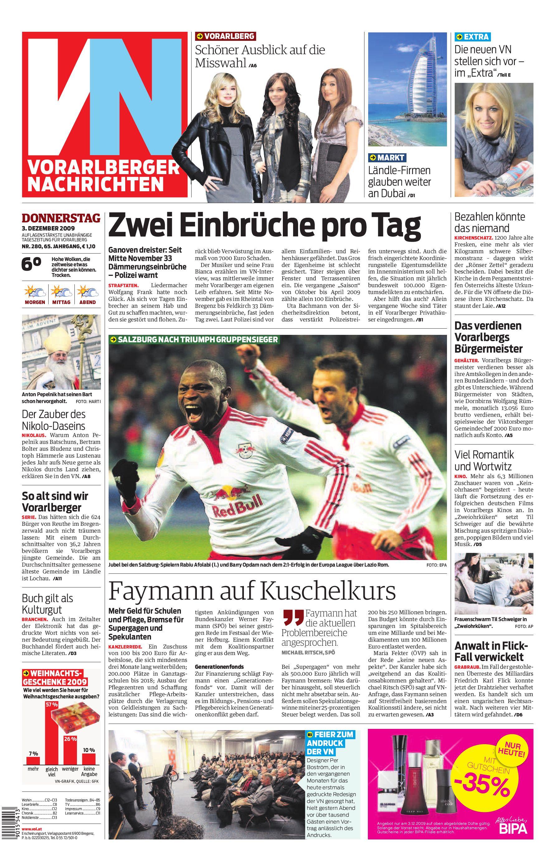 Die neue VN 3.12.2009 by Gerold Riedmann issuu