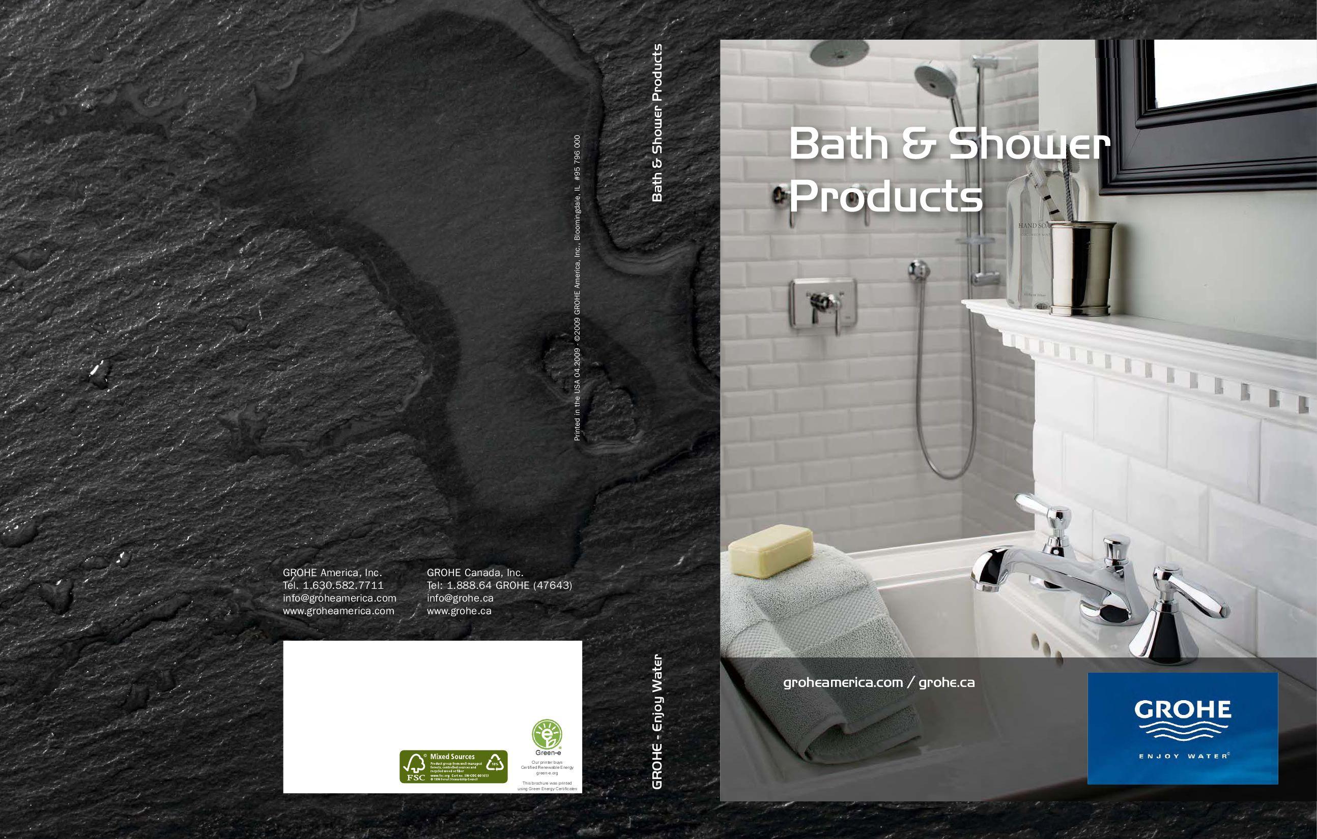 Grohe Bath & Shower Products Catalog by 5kMedia - issuu