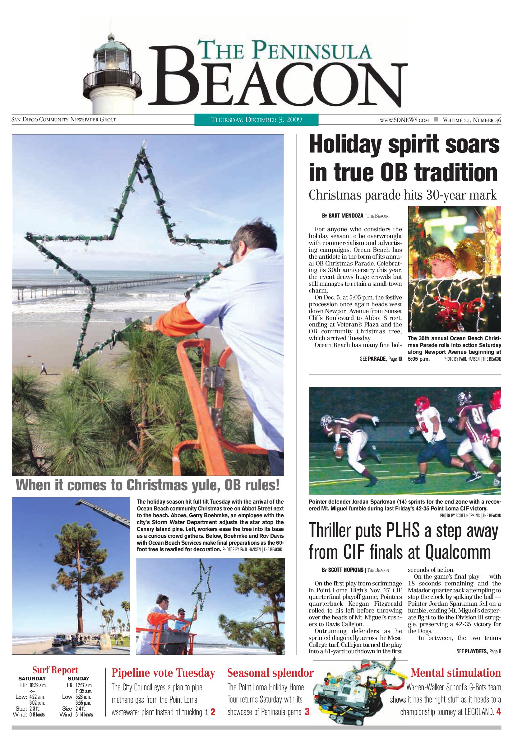 The Peninsula Beacon, December 3rd, 2009 by San Diego Community ...