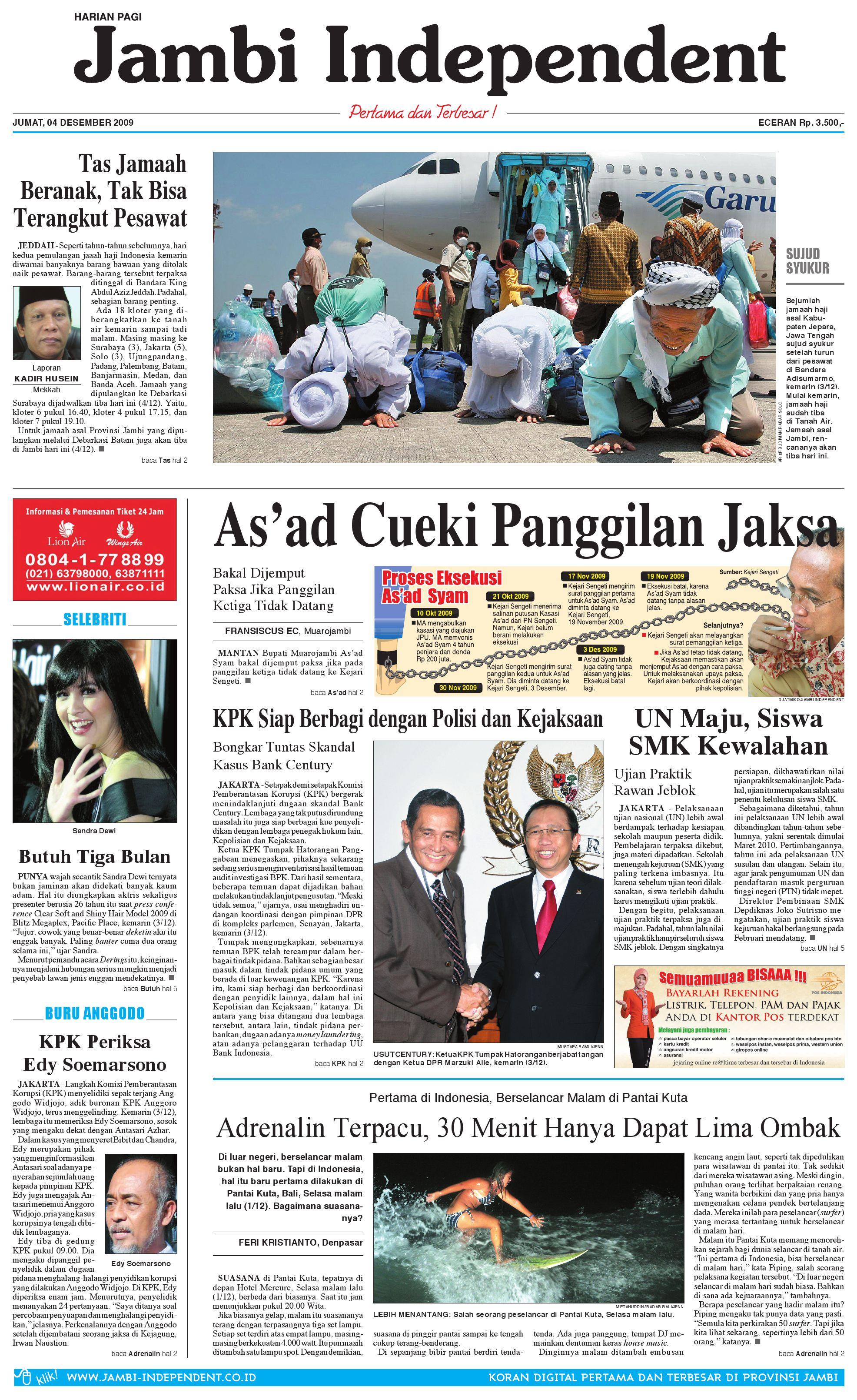 Jambi Independent 04 Desember 2009 By Issuu Produk Ukm Bumn Tekiro Tang Kombinasi 7