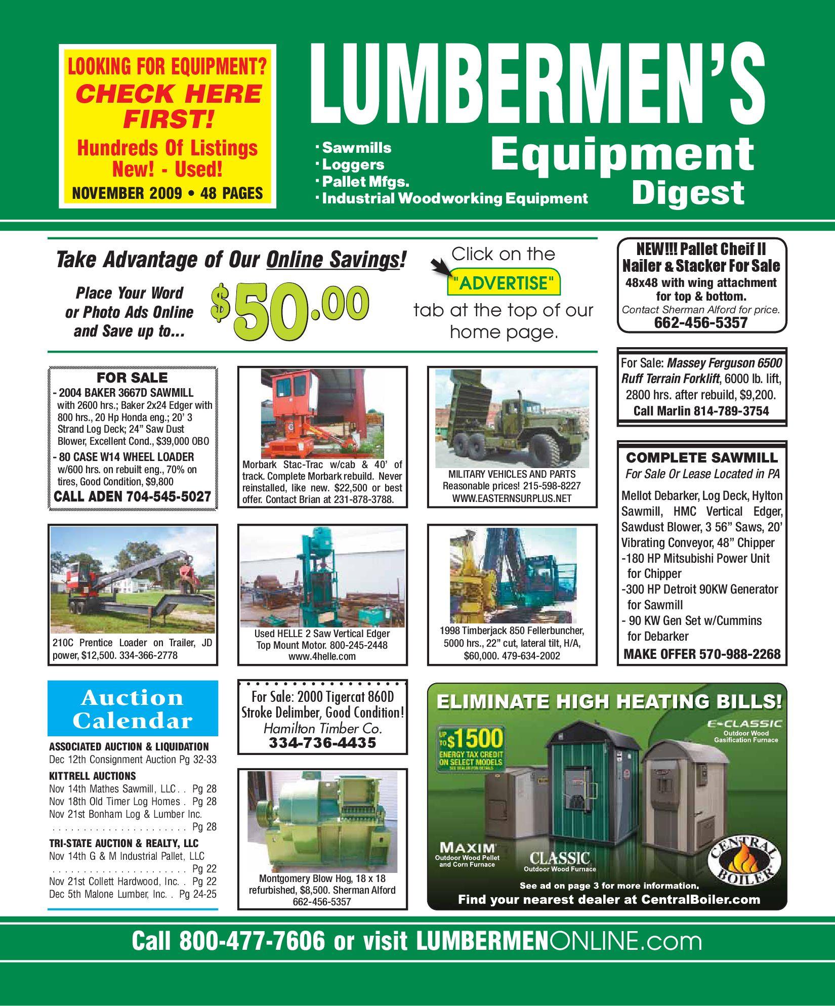 November 2009 / LUMBERMEN'S Equipment Digest by LUMBERMEN'S