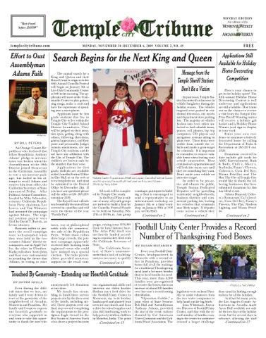 2009_11_30_Temple-City by Beacon Media News - issuu